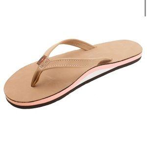 Rainbow USA flip flops
